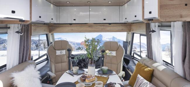 salon luxueux camping car