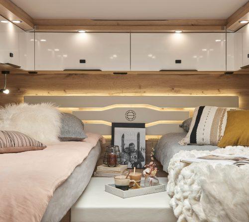 chambre lits jumeaux camping car